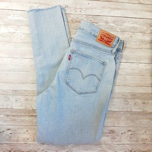 Genuine Levi's 721 high rise, frayed hem. 30W 30L